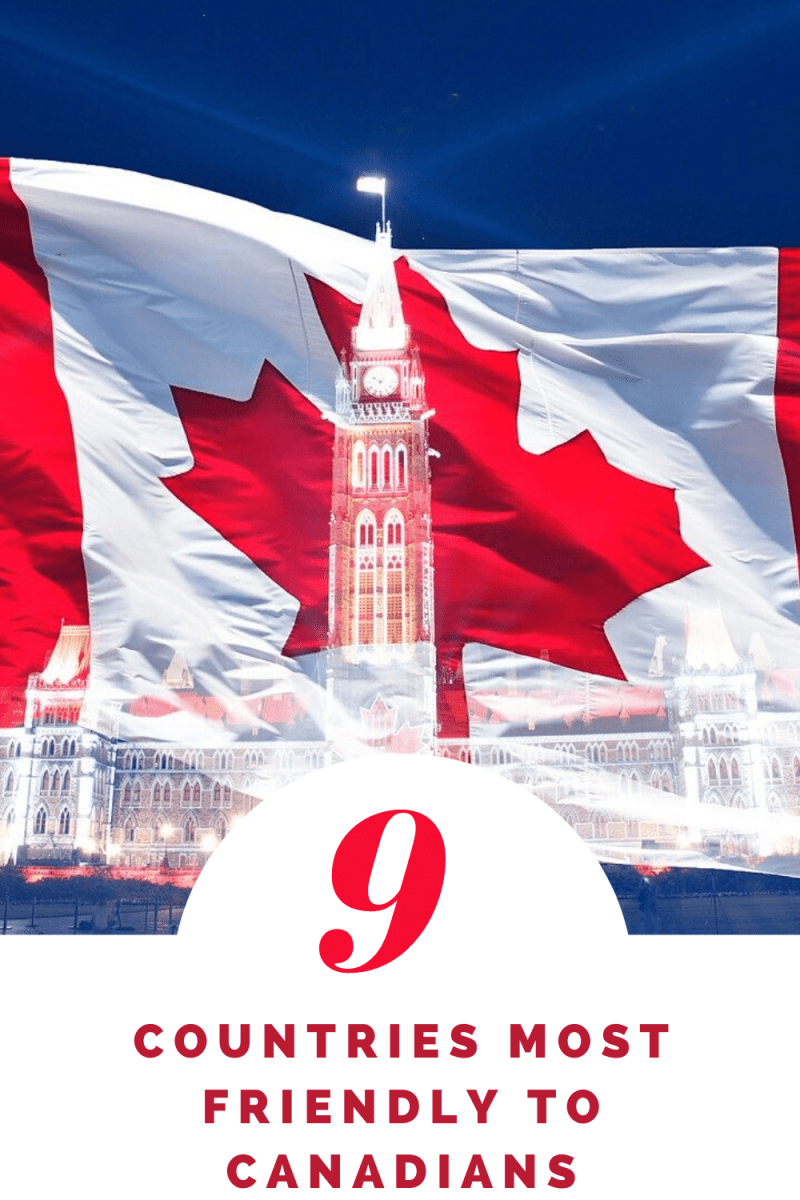 9 Countries Most Friendly to Canadians