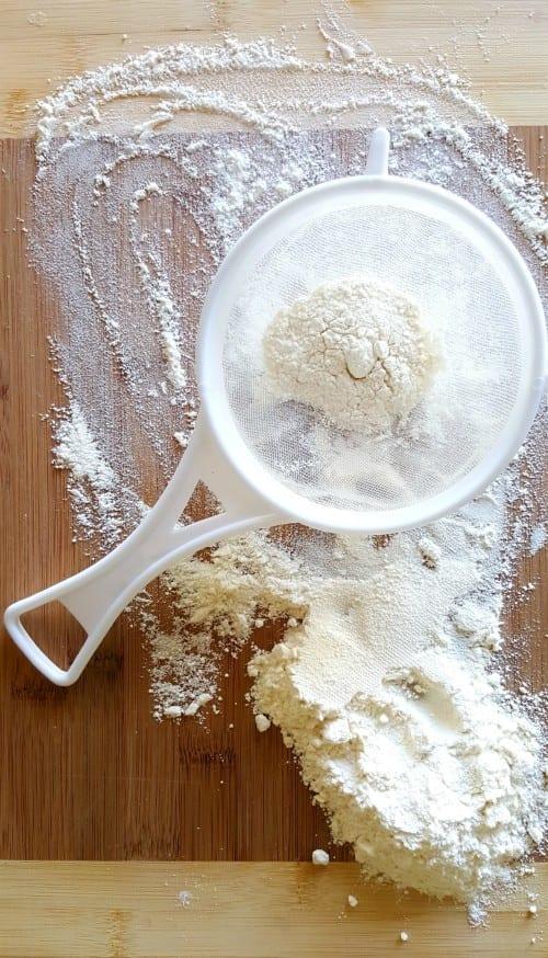 flour on a table
