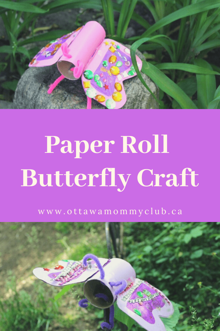 Paper Roll Butterfly Craft