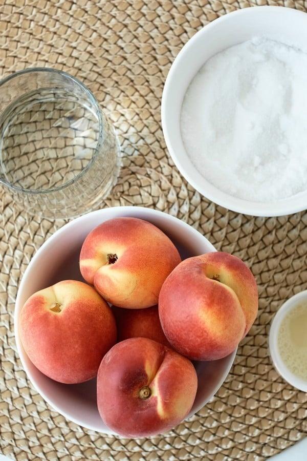 peach preserve ingredients