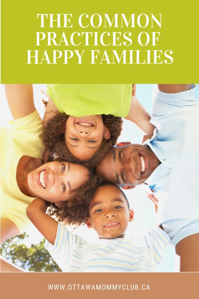 The Common Practices Of Happy Families