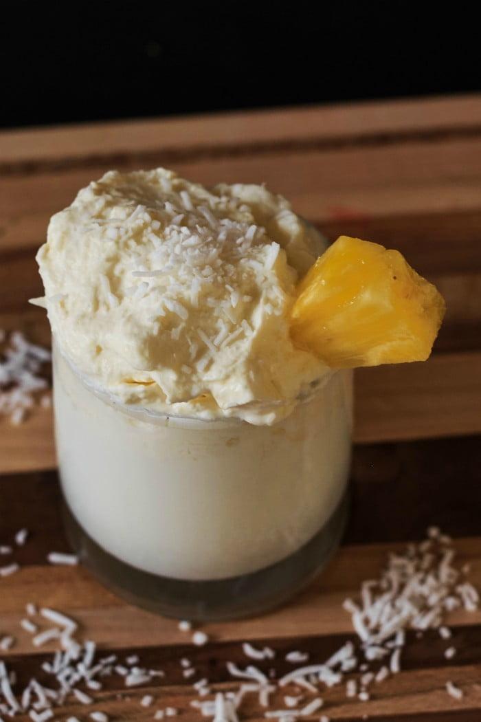 Dalgona Inspired Pina Colada Milk
