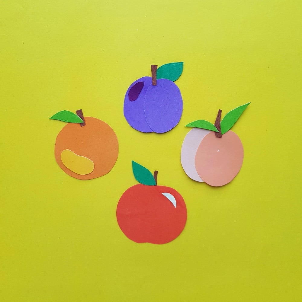 Paper Craft Fruits For Kids