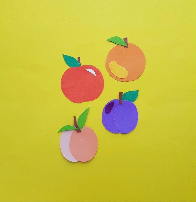 Paper Fruit Crafts For Kids