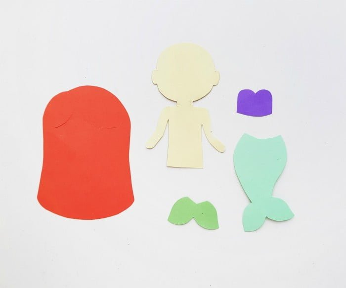 Princess Ariel Paper Doll step 1
