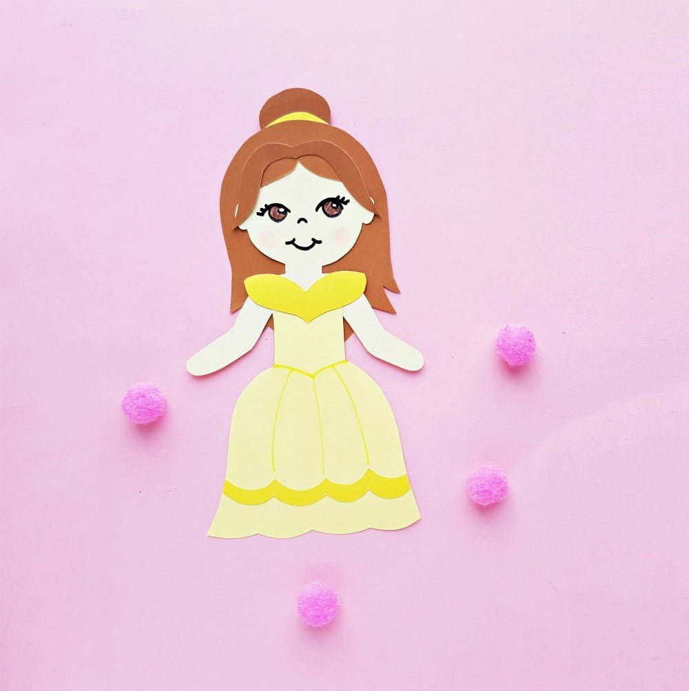 Princess Belle Paper Doll Craft