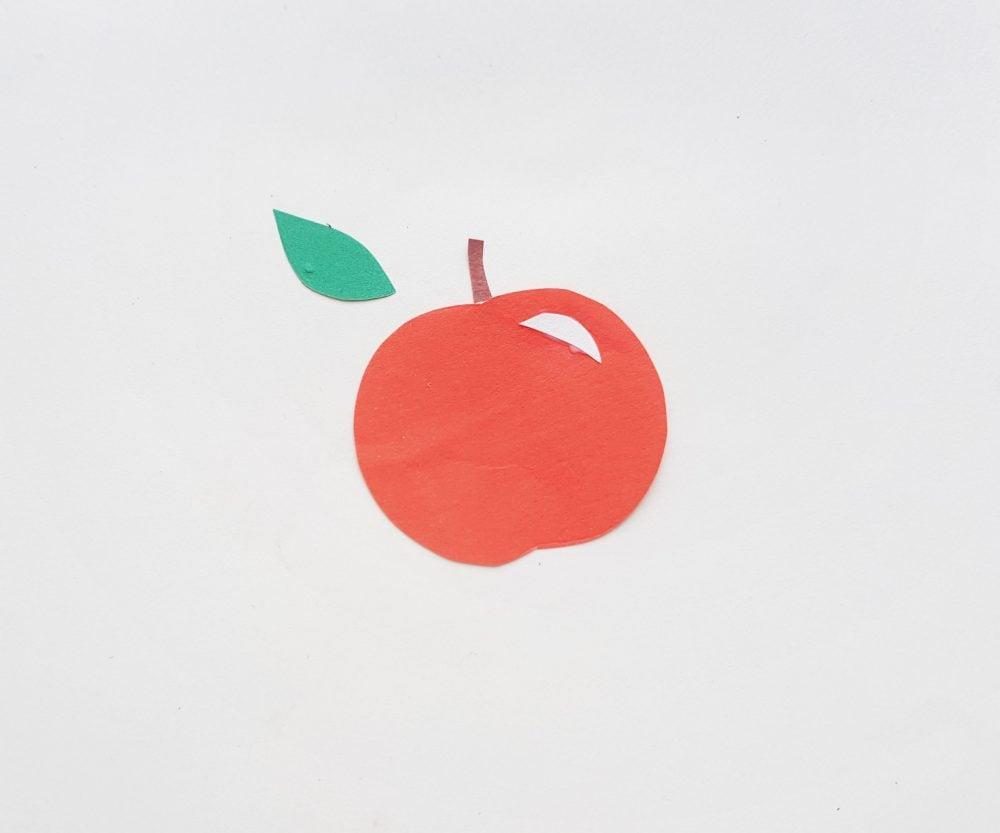 Apple Paper Fruit Craft