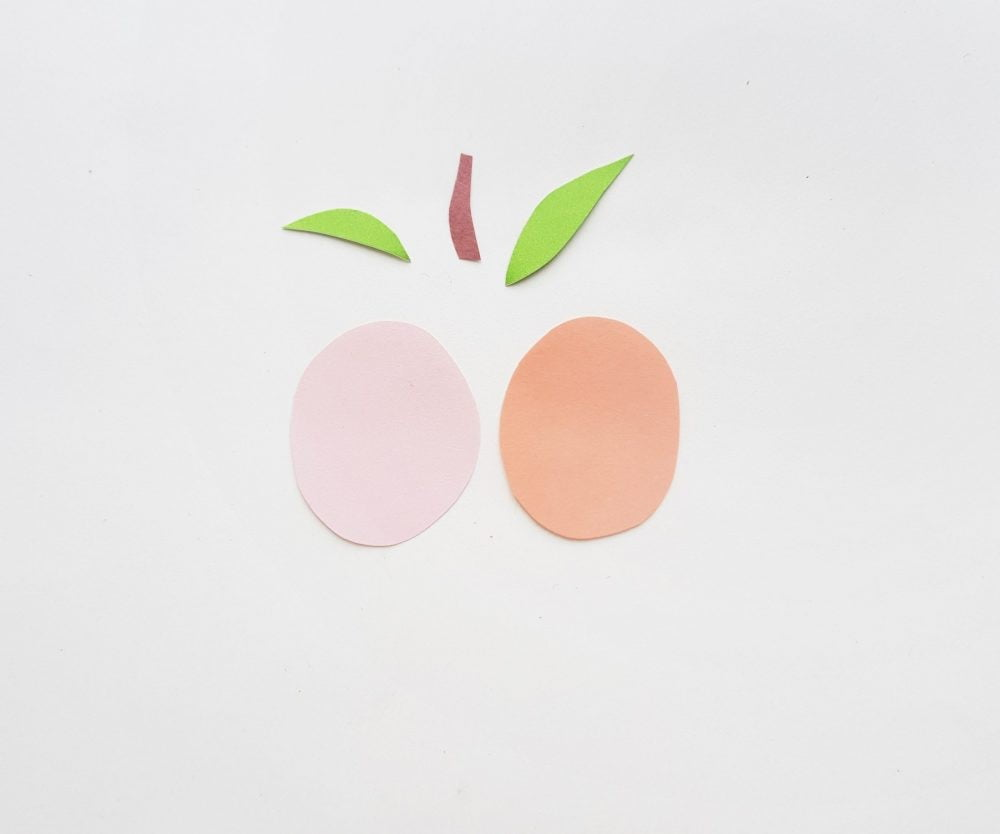 Peach Paper Fruit Craft