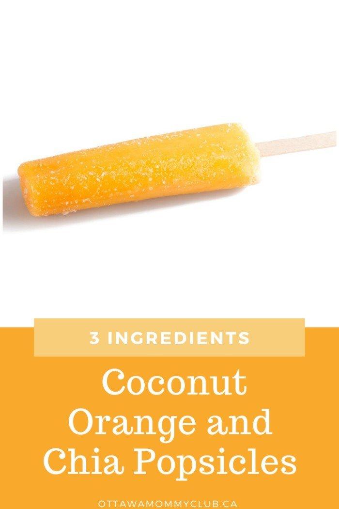 Coconut Orange and Chia Popsicles recipe