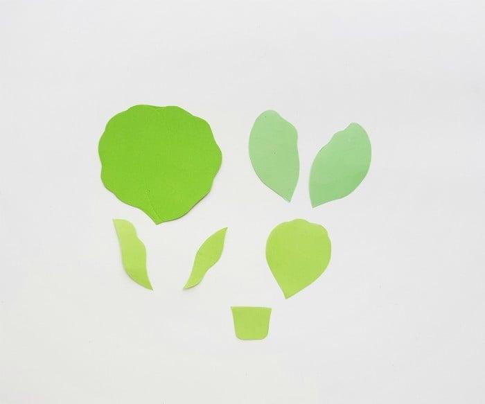 Vegetables Paper Crafts Step 1