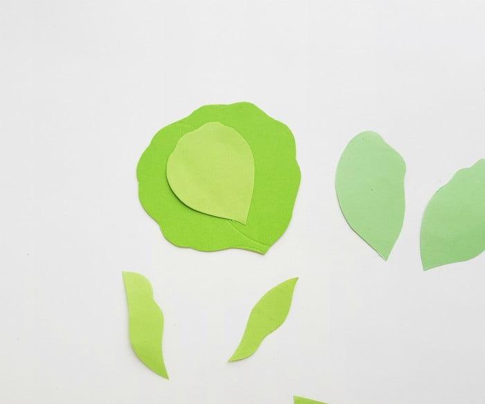 Vegetables Paper Crafts Step 2