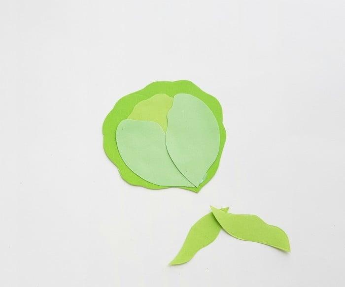 Vegetables Paper Crafts Step 3