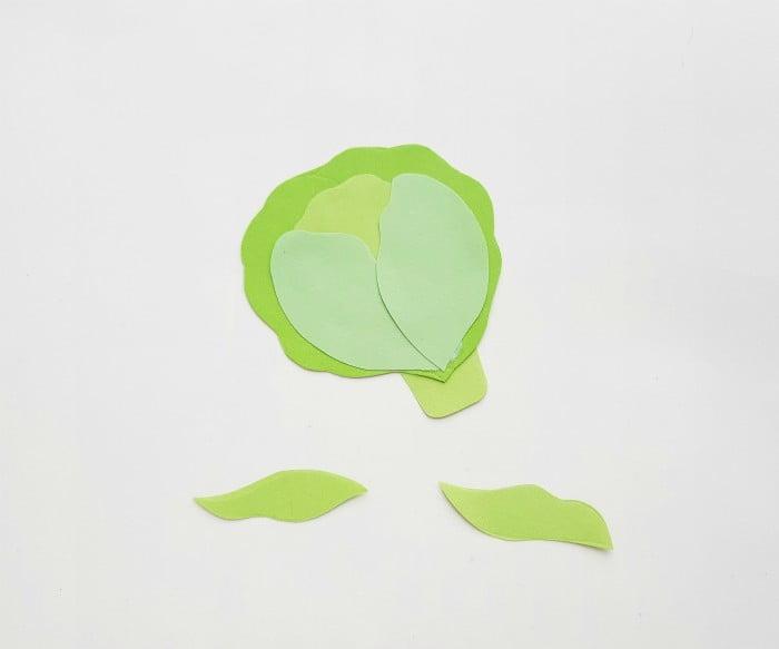 Vegetables Paper Crafts Step 4