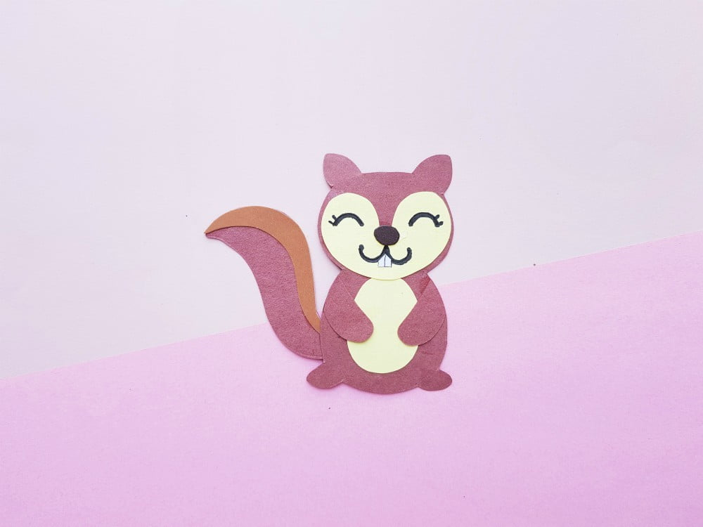 Squirrel Paper Craft with Printable Template
