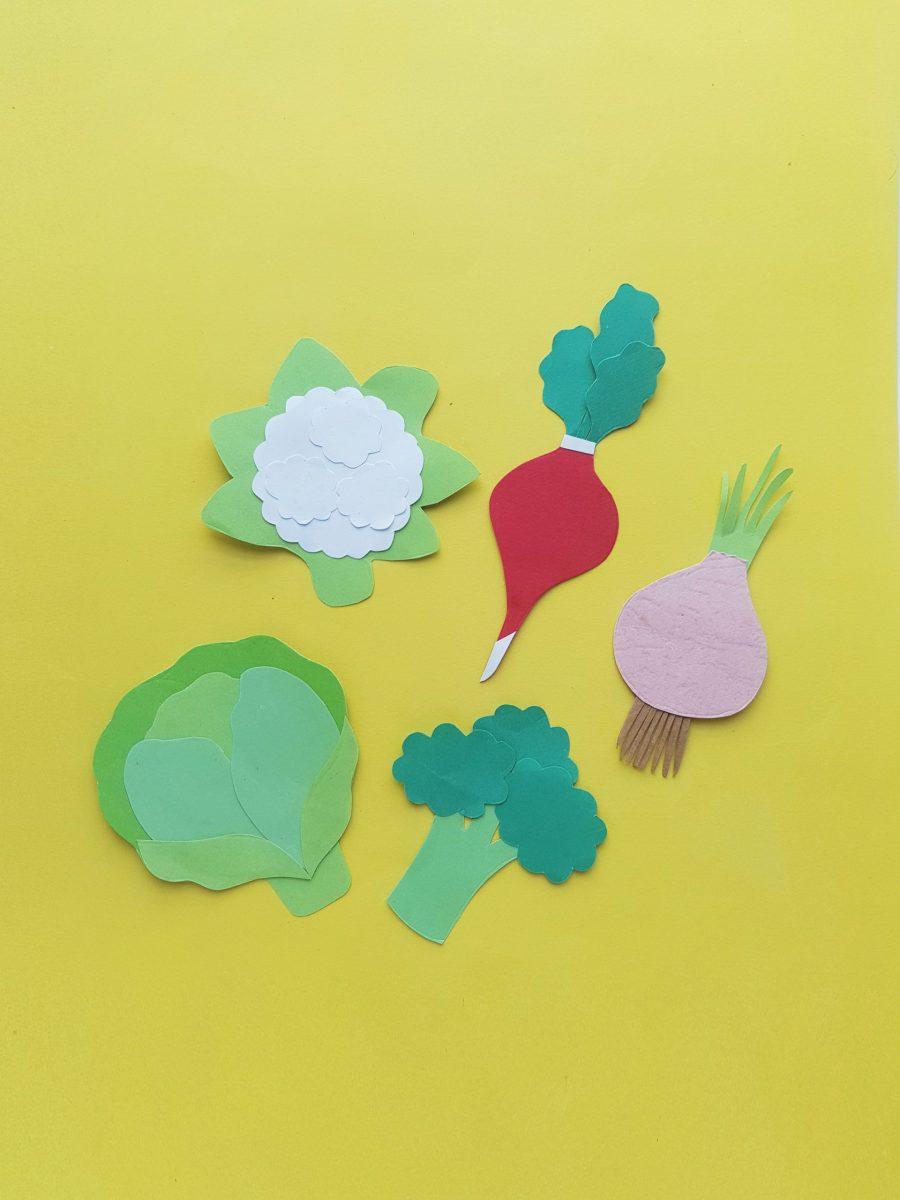 Vegetables Paper Crafts For Kids