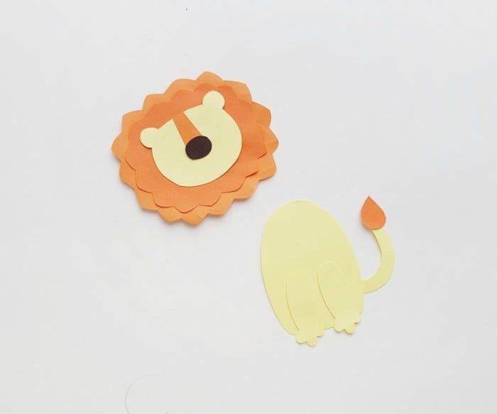 Lion Paper Craft step 5
