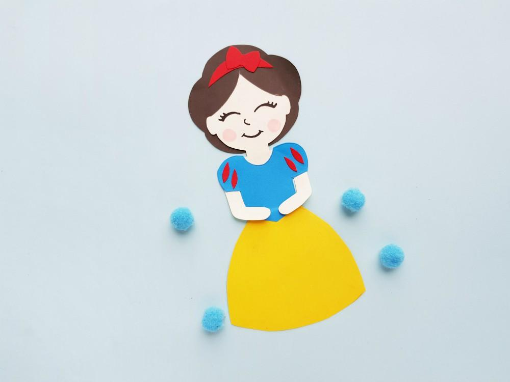 Princess Snow White Paper Doll Craft