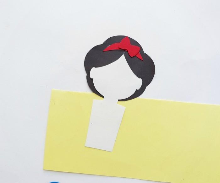Princess Snow White Paper Doll Craft Step 5