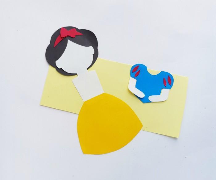 Princess Snow White Paper Doll Craft Step 6