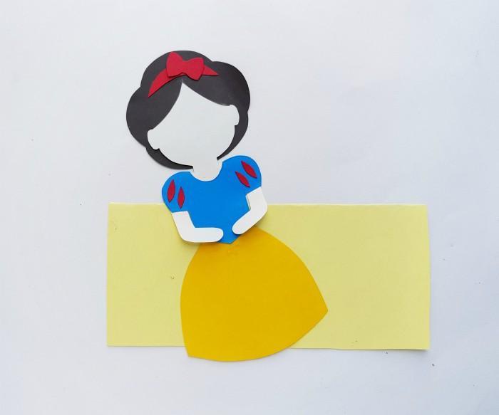 Princess Snow White Paper Doll Craft Step 7
