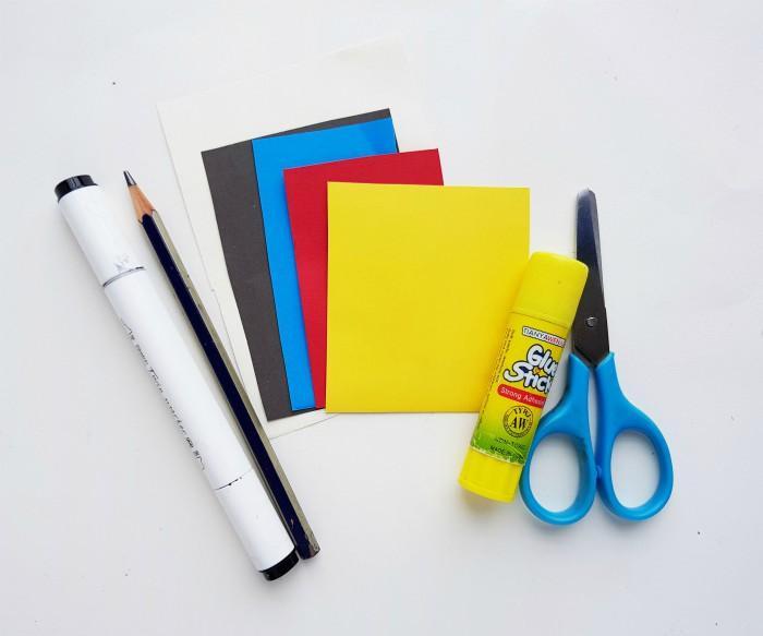 Princess Snow White Paper Doll Craft supplies