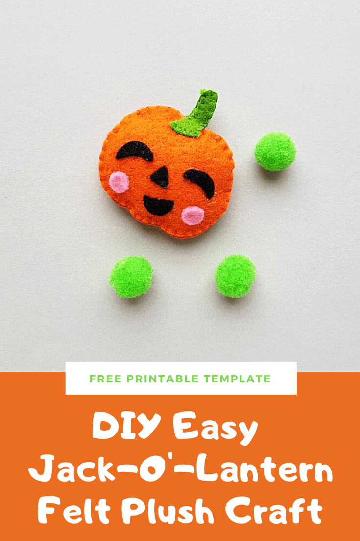 DIY Easy Jack-O'-Lantern Felt Plush Craft