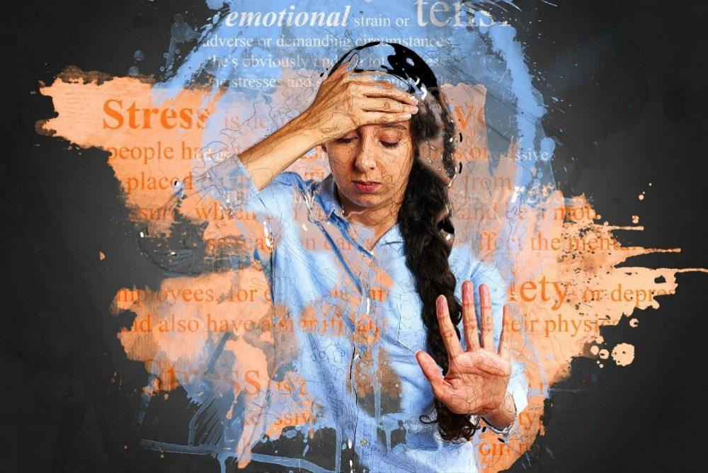 woman feeling anxiety and stress