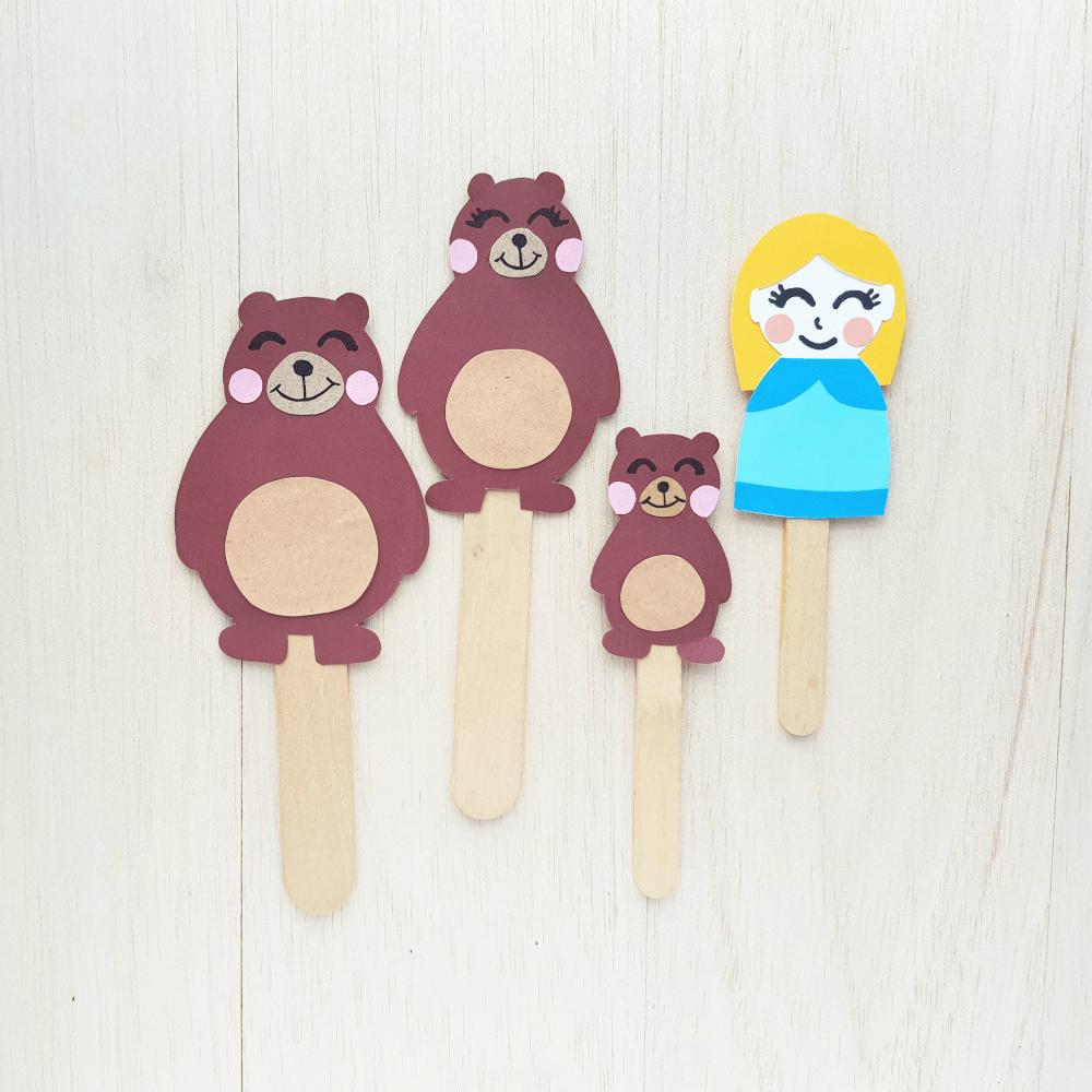 Goldilocks And The Three Bears Puppet Craft
