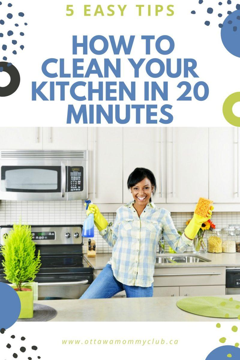 How To Clean Your Kitchen In 20 Minutes