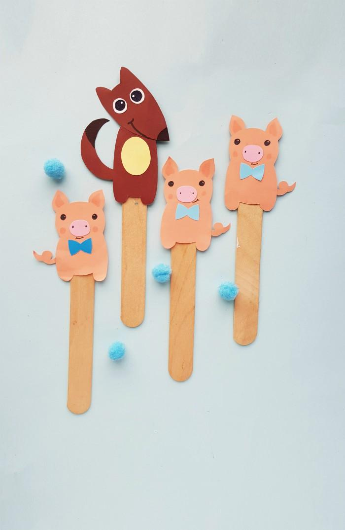Three Little Pigs Story Puppets Craft