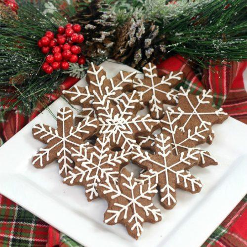 Brownie Snowflake Sugar Cookies Recipe