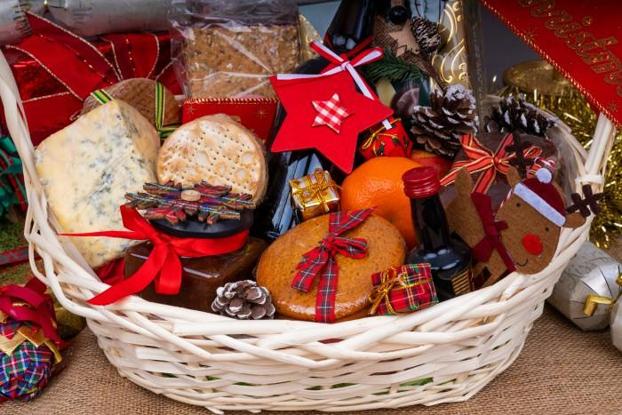 Christmas Hamper/basket with treats