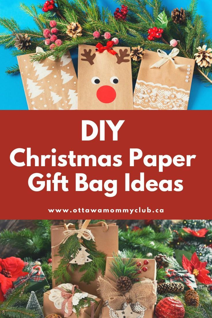 DIY Christmas Paper Gift Bag Ideas