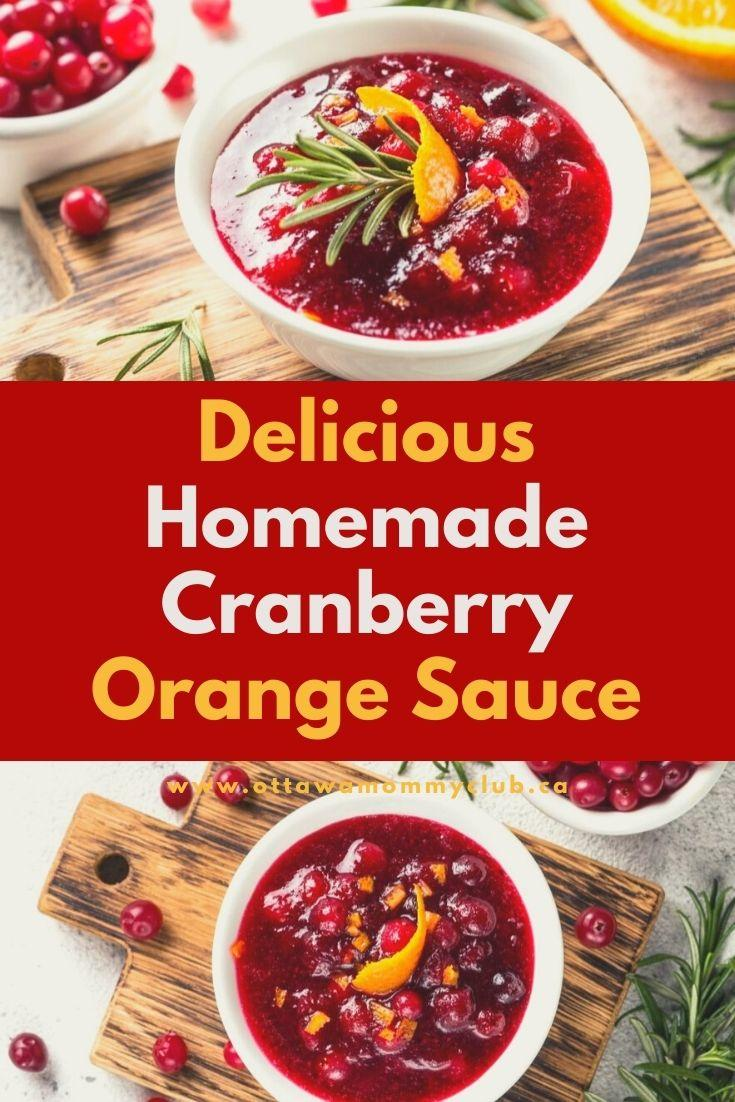 Delicious Homemade Cranberry Orange Sauce