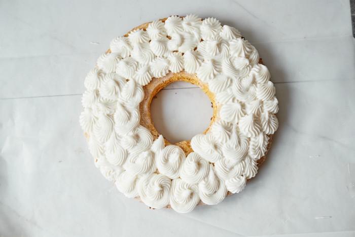 Pumpkin Cookie Donut in process