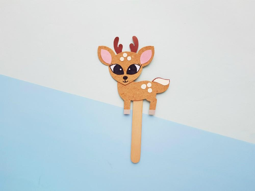 Deer Paper Puppet Craft With Easy-To-Use Template