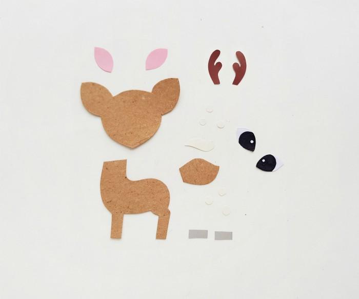 Deer Paper Puppet Craft Step 1