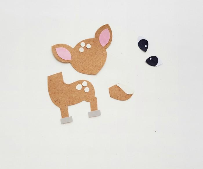 Deer Paper Puppet Craft Step 2