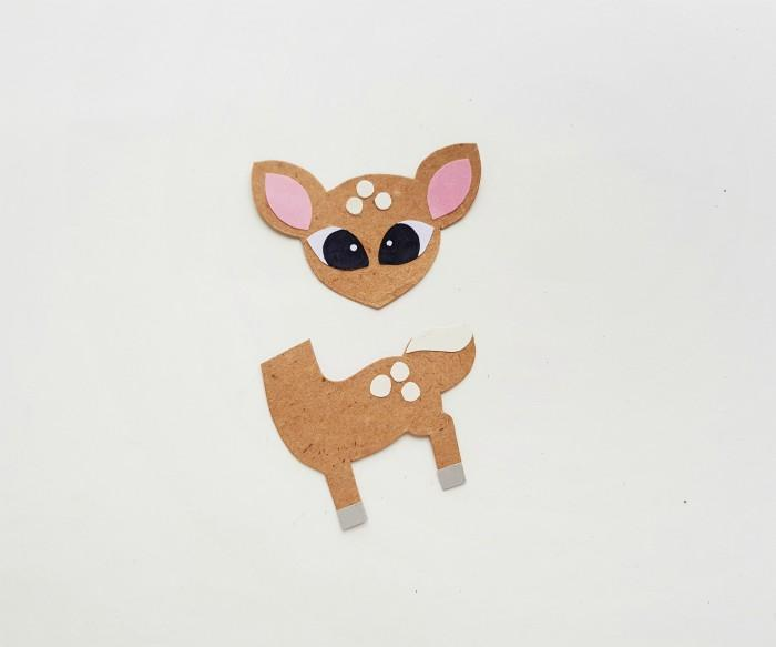 Deer Paper Puppet Craft Step 3