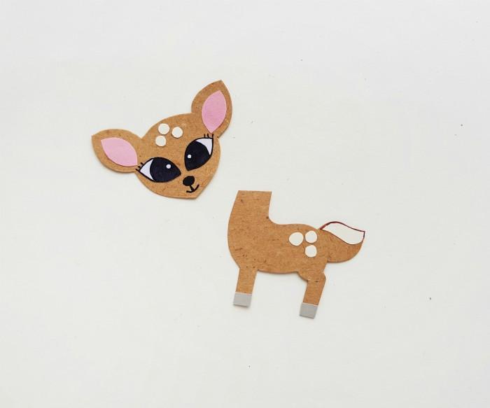 Deer Paper Puppet Craft Step 4