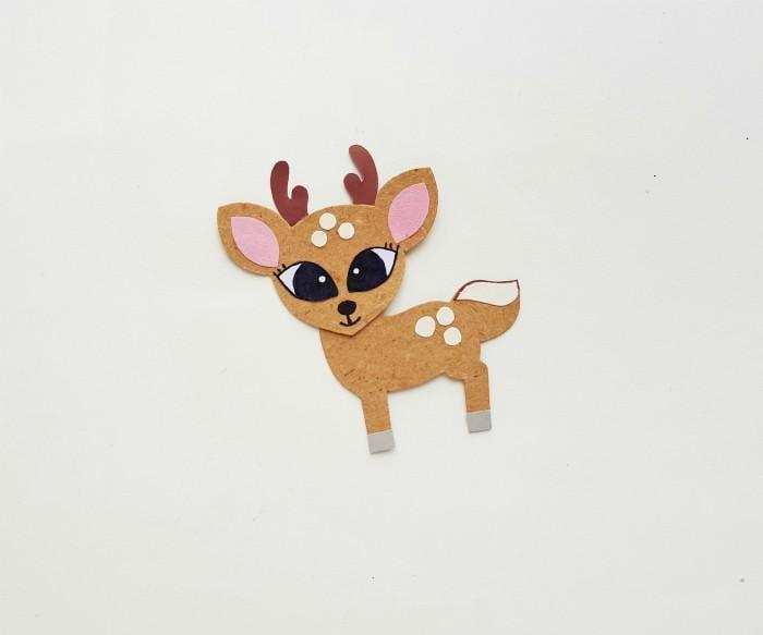 Deer Paper Puppet Craft Step 5