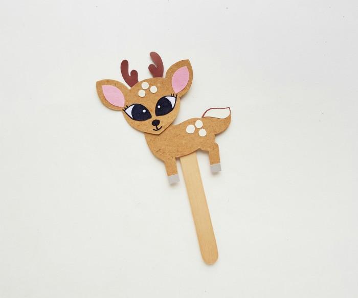 Deer Paper Puppet Craft Step 6