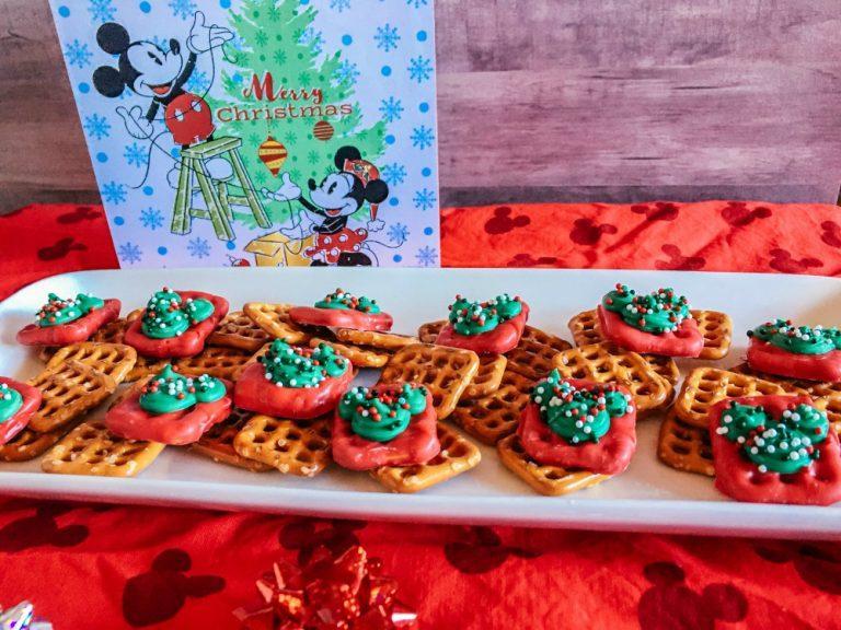 Mickey Mouse Holiday Gift Box Pretzels Recipe – Easy No Bake Treats