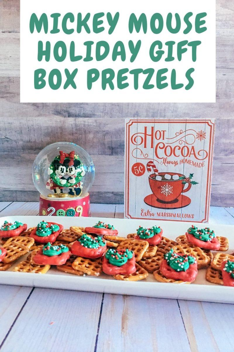 Mickey Mouse Holiday Gift Box Pretzels Recipe
