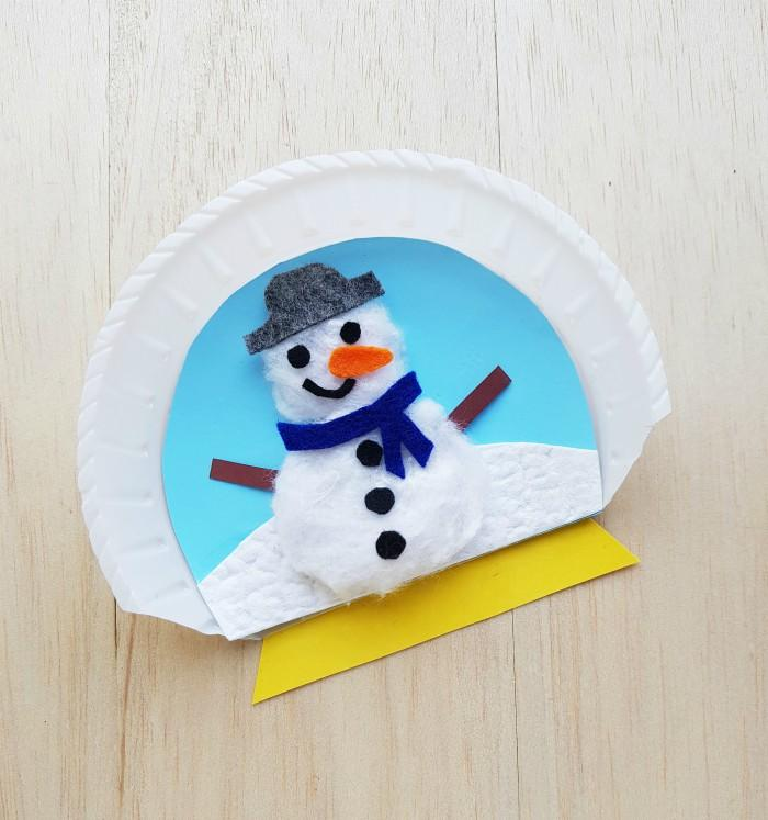 Paper Plate Snow Globes Craft With Template
