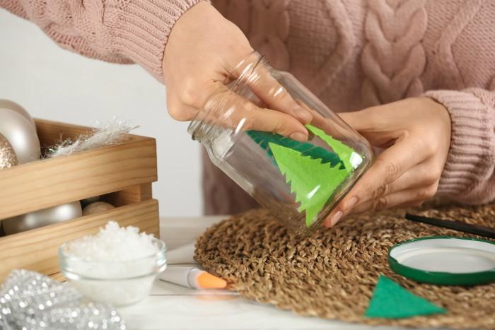 How to Make Snow Globes in process