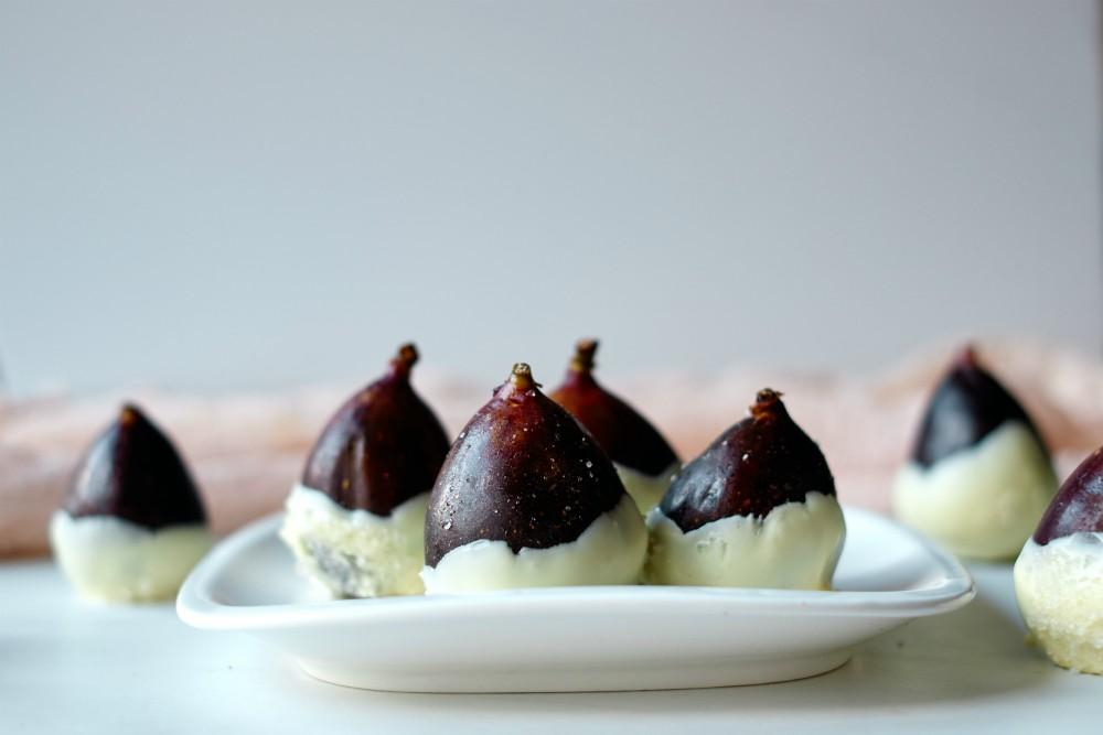 White Chocolate Figs with Coarse Sugar