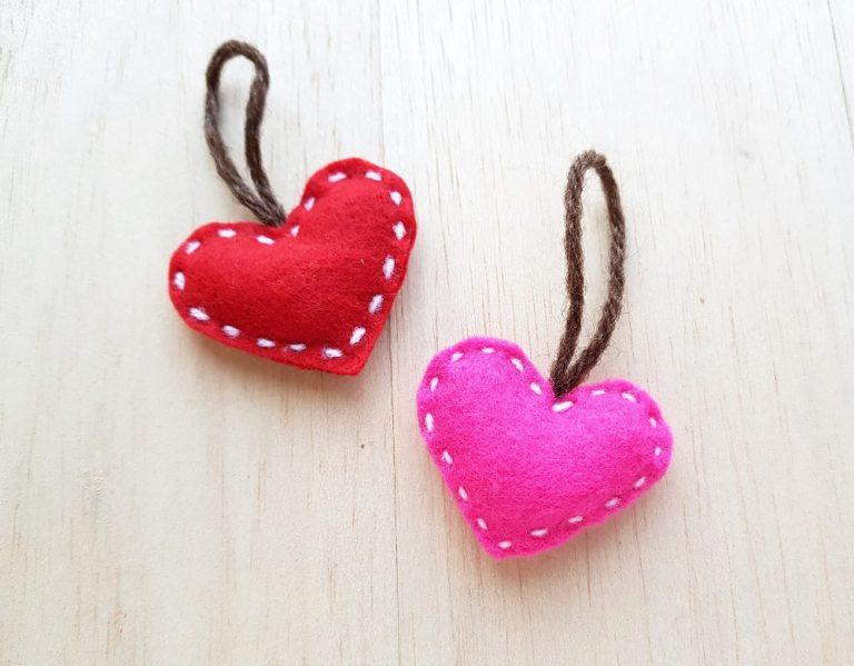 Easy Felt Heart Plush Craft For Kids With Printable Template