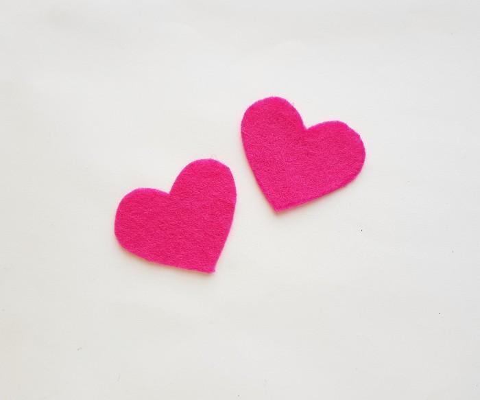 Easy Felt Heart Plush Craft For Kids step 1