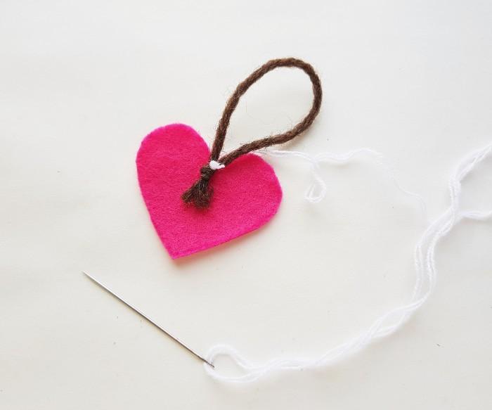 Easy Felt Heart Plush Craft For Kids step 3